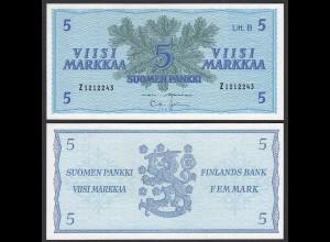 FINNLAND - FINLAND 5 MARKKA 1963 PICK 106Aa aUNC (1-) (24980