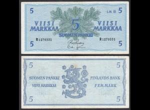 FINNLAND - FINLAND 5 MARKKA 1963 PICK 106Aa F+ (4+) (24984