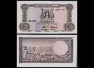 Uganda 10 Shillings Banknote 1966 Pick 2a UNC (1) (24995