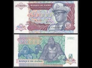 Zaire 5.000 5000 Zaires 1991 Banknote Pick 40a UNC (1) (25015