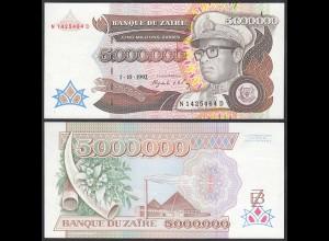 Zaire 5-Millionen Zaires 1992 Banknote Pick 46a UNC (1) (25016