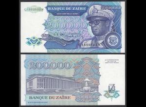 Zaire 200.000 200000 Zaires 1992 Banknote Pick 42a UNC (1) (25017