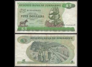 Simbabwe - Zimbabwe 5 Dollars 1983 Pick 2c VF (3) (25019