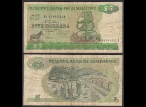 Simbabwe - Zimbabwe 5 Dollars 1983 Pick 2c VG (5) (25020
