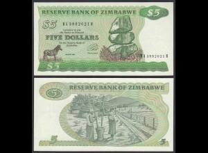 Simbabwe - Zimbabwe 5 Dollars 1994 Pick 2e UNC (1) (25024