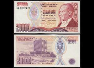 Türkei - Turkey 20000 Lira Banknote 1970 (1995) Pick 202 UNC ATATÜRK (15783
