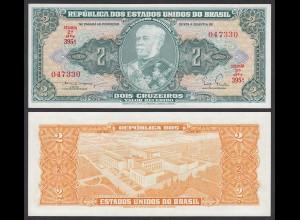 Brasilien - Brazil 2 Cruzaros (1956-58) Pick 157Aa UNC (1) sig.3 (25080