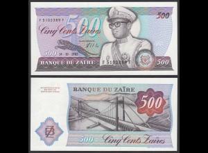 Zaire - 500 Zaires 1985 Banknote Pick 30b UNC (1) (25083