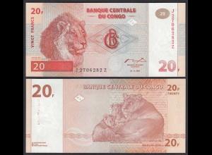 Kongo - Congo 20 Francs Banknote 1997 Pick 88Aa UNC (1) (25085