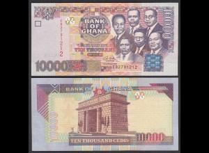 Ghana 10000 10.000 Cedis Banknote 2003 Pick 35b UNC (1) (25086