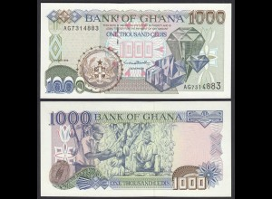Ghana 1000 Cedis Banknote 1998 Pick 32b UNC (1) (25087