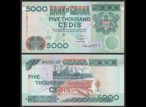Ghana 5000 Cedis Banknote 2006 Pick 34j UNC (1) (25089