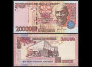 Ghana 20000 20.000 Cedis Banknote 2003 Pick 36b UNC (1) (25090