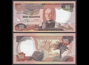 Angola 100 Escudos Banknote 1972 Pick 101 UNC (1) (25098