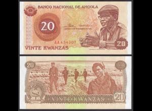 Angola 20 Kwanza 11-11-1976 Banknote Pick 109 UNC (1) (25100