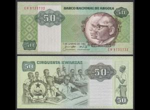 Angola 50 Kwanza 1984 Banknote Pick 118 UNC (1) (25103