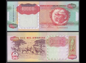 Angola 10000 10.000 Kwanza 1991 Banknote Pick 131 UNC (1) (25108