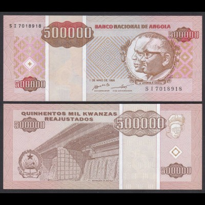 Angola 500000 500.000 Kwanza 1995 Banknote Pick 140 UNC (1) (25110