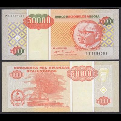 Angola 50000 50.000 Kwanza 1995 Banknote Pick 138 UNC (1) (25111
