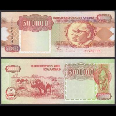 Angola 500000 500.000 Kwanza 1991 Banknote Pick 134 XF (2) (25113