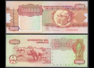 Angola 500000 500.000 Kwanza 1991 Banknote Pick 134 UNC (1) (25114