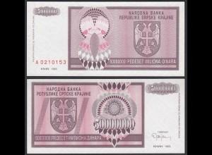 Kroatien - Croatia 50-Miilion Dinara Banknote 1993 Pick R14 UNC (1) (25121