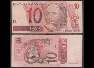BRASILIEN - BRAZIL 10 REAIS Pick 245Ag F (4) sig.40 (24768
