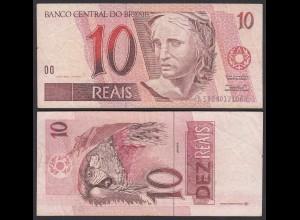 BRASILIEN - BRAZIL 10 REAIS Pick 245Ae F (4) sig.39 (24766