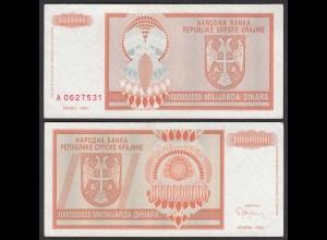Kroatien - Croatia 1-Milliarde Dinara Banknote 1993 Pick R17 VF (3) (25126