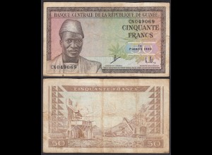 Guinea - Guinee 50 Francs Banknote 1960 Pick 12a VG/F (4/5) (25156