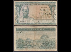 Guinea - Guinee 1000 Francs Banknote 1960 Pick 15a F (4) (25160