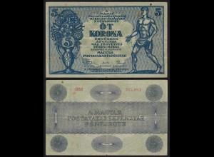UNGARN - HUNGARY 5 Korona 1919 Pick 34 aVF (3-) (25170