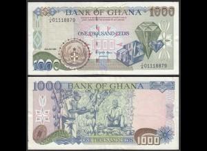 Ghana 1000 Cedis Banknote 1993 Pick 29b VF (3) (25177