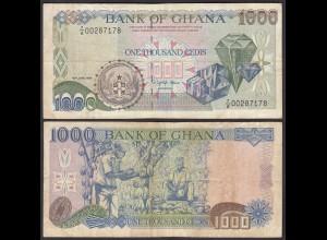 Ghana 1000 Cedis Banknote 1994 Pick 29b F (4) (25177