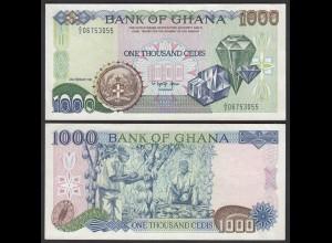 Ghana 1000 Cedis Banknote 1991 Pick 29a VF/XF (2/3) (25181