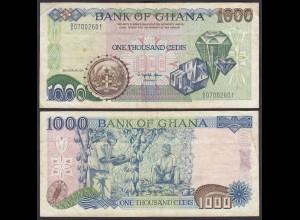 Ghana 1000 Cedis Banknote 1991 Pick 29a VF (3) (25184