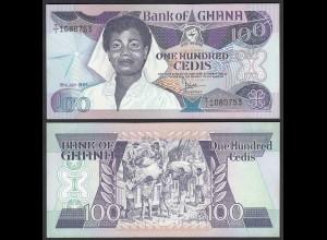 Ghana 100 Cedis Banknote 1986 Pick 26a UNC (1) (25190