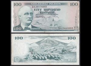 Iceland - Island 100 Kroner 1961 Pick 44a VF (3) (25226