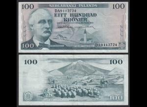 Iceland - Island 100 Kronur 1961 Pick 44a VF (3) (25231