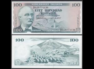 Iceland - Island 100 Kronur 1961 Pick 44a UNC (1) (25232