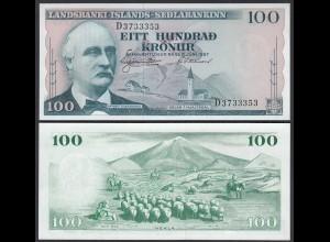 Iceland - Island 100 Kronur 1957 Pick 40a UNC (1) (25237