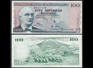 Iceland - Island 100 Kronur 1957 Pick 40a VF+ (3+) (25238