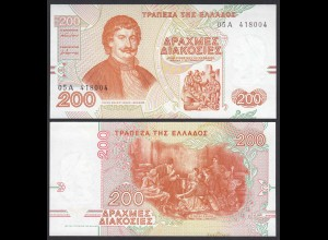 Griechenland - Greece 200 Drachmai 1996 Pick 204a UNC (1) (25245