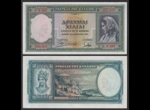 Griechenland - Greece 1000 Drachmai 1939 Pick 110 aUNC (1-) (25247
