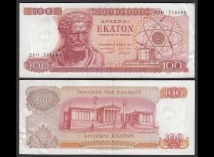 Griechenland - Greece 100 Drachmai 1967 Pick 196b VF (3) (25252