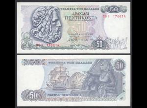 Griechenland - Greece 50 Drachmai 1978 Pick 199a VF+ (3+) (25253