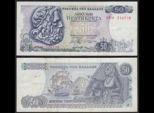 Griechenland - Greece 50 Drachmai 1978 Pick 199a VF- (3-) (25254