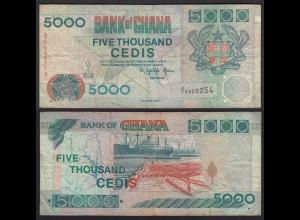 Ghana 5000 Cedis 1994 Pick 31a F- (4-) (25256