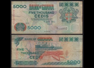 Ghana 5000 Cedis 1994 Pick 31a F- (4-) (25257