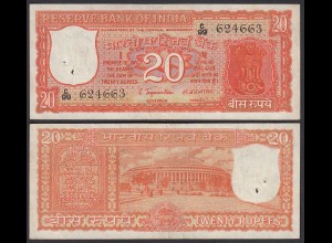 Indien - India - 20 RUPEES ND Pick 61a VF (3) (25262